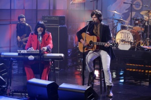 The Olms on The Tonight Show with Jay Leno. Courtesy of The Tonight Show with Jay Leno. Photo by Paul Drinkwater/NBC